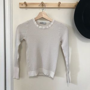 Zara off white fitted long sleeve top small